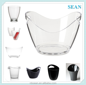 Transparent Factory wholesale cheap wine ice bucket for promotion