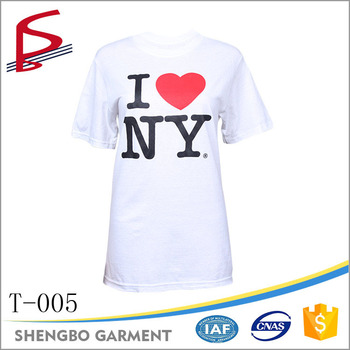 Wholesale I Love New York Ny 120g 130g 150g White T-shirt - Buy ... 45ceca9a69d