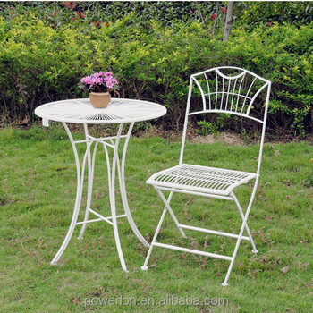 Stylish Wedding Dec French Patio Set Small Kd Table 2 Chairs Buy