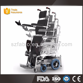 handicapped stand up reclining electric stair climbing