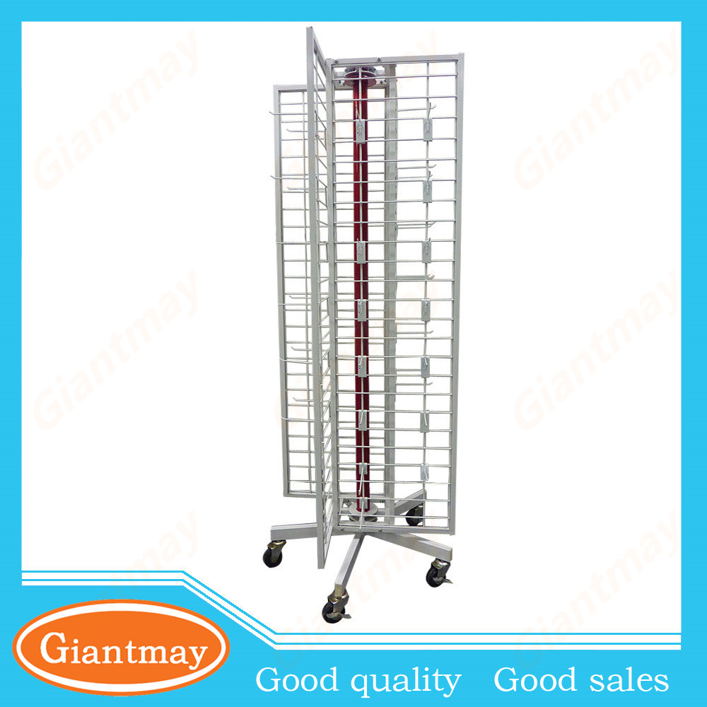 single metal shoe display shelf spinning wire rack stand