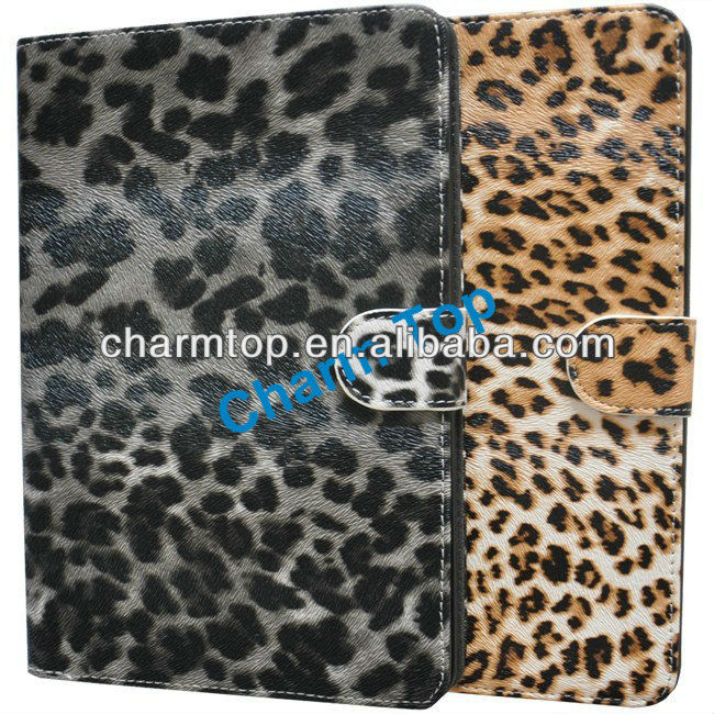 Leopard Leather Stand Case For iPad Mini