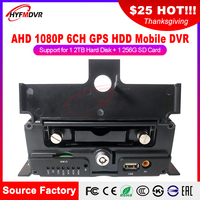 Factory wholesale AHD GPS 6CH MDVR hard disk truck/bus general monitoring host local location track playback