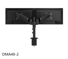 "Dual Monitor Arms Fully Adjustable Desk Mount / Articulating Desktop Stand For 2 LCD Screens Up to 27"" inch"