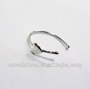 Heart Shaped 925 Sterling Silver Nose Ring Nose Piercing Body