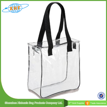Customized Transpa Clear Pvc Zipper Bag Waterproof Tote Product On Alibaba