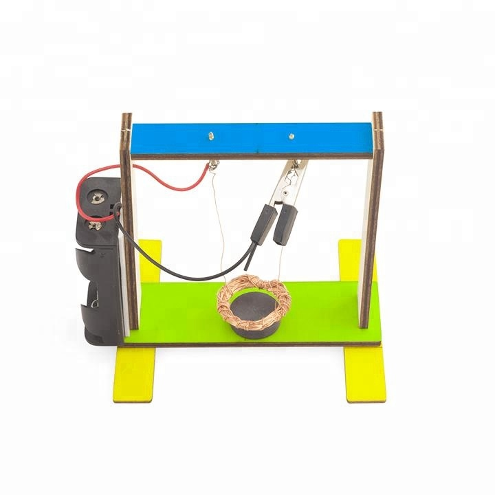 DIY Wooden Enelectro-magnetic Induction Swing Science Kit Electronics for Kids