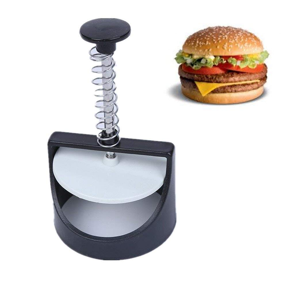 OIZEN Burger Press Mold, 1pc Plastic Hamburger Meat Beef Maker,DIY Meat Pie Pressure Mould Hamburger Press Burger Maker,Burger Press Maker Hamburger Patty Stuffed Cooking Grill Breakfast Mold