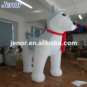 christmas decoration giant inflatable husky dog