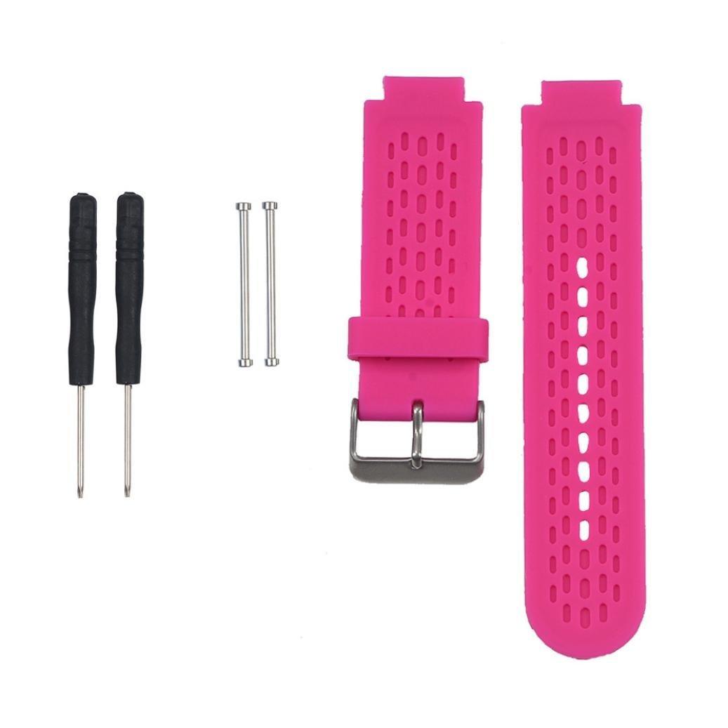 For Garmin vívoactive Wristband,Binmer(TM) Soft Silicone Strap Replacement Watch Band + Lugs Adapters Tool for Garmin vívoactive Smartwatch (HOT Pink)