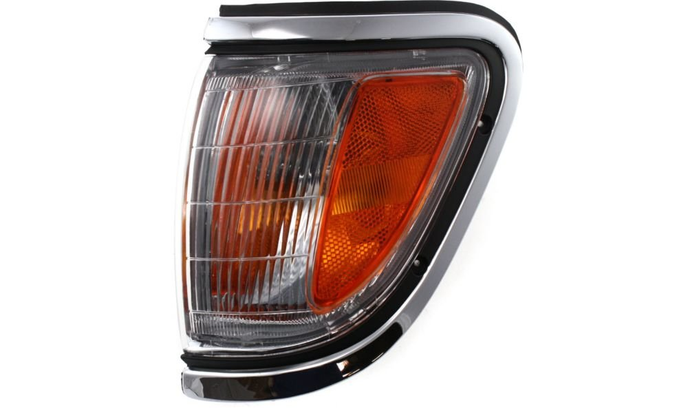 Evan-Fischer EVA20572013478 Corner Light for Toyota Tacoma 95-97 Corner Lamp LH Assembly W/ Chrome Trim 4WD Left Side Replaces Partslink# TO2520143