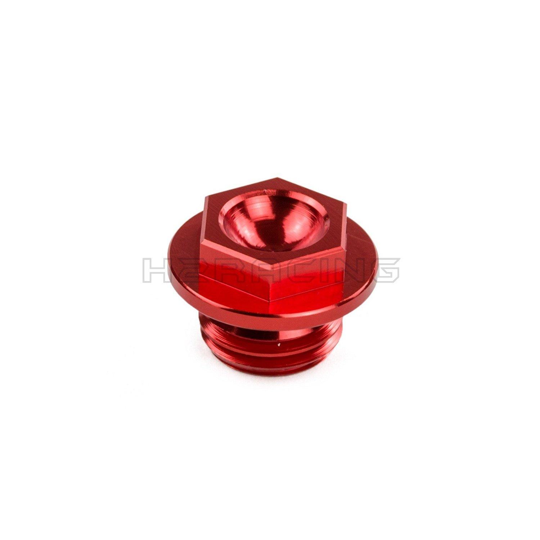 H2RACING Red CNC Billet Oil Filter Cover Cap for Honda CR125R 1991-2007,CR250R 480R 500R CRF150R 2007-2015,250L 250R 450R 450X TRX450ER,TRX450R 2004 2005 2006 2007 2008 2009