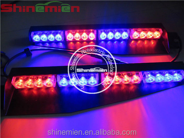 LED Dash/Deck/Visor Lights Blue and Red Warning Strobe Flashing Lights Police light