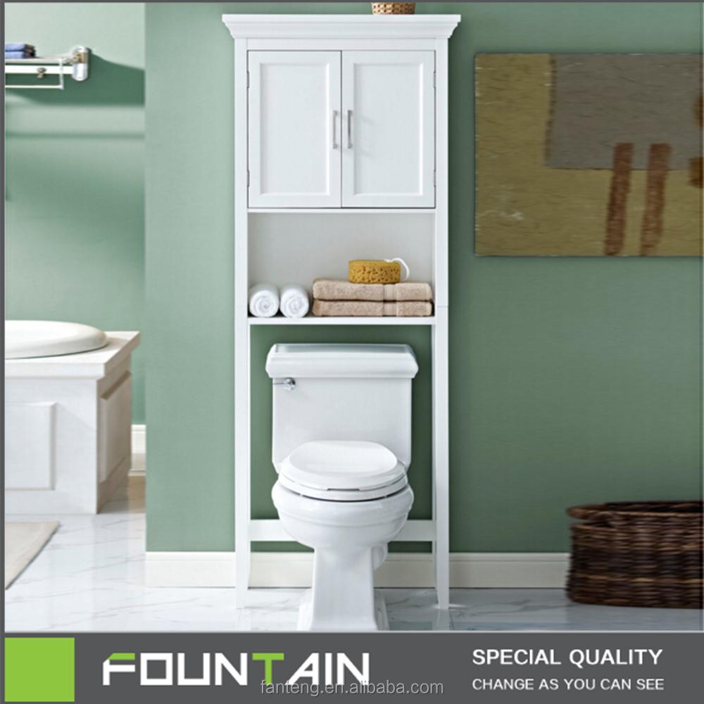 Mdf Two Door Cabinet Over The Toilet Bathroom Space Saver Storage