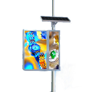 Outdoor Waterproof advertising led animated solar light box Led back lite