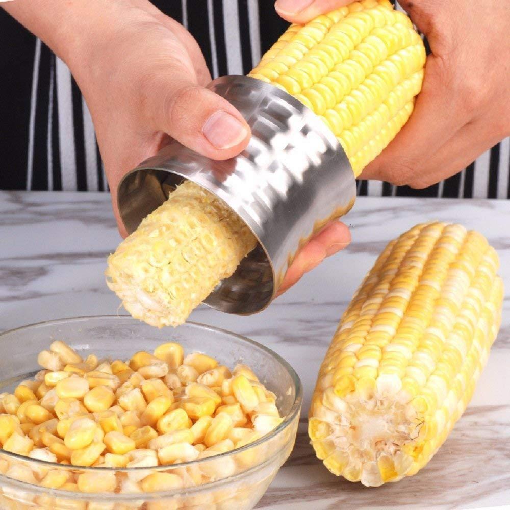 VONOTO 2PACK Stainless Steel Corn Stripping Tool, Corn Stripper, Stainless Steel Corn Kernel Cutter