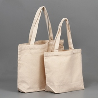 Factory supply high quality custom eco cotton fabric shopping tote bag wholesale grocery recycled canvas bags