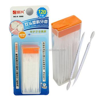 7edd3090d Cabeça dupla 120 pcs Dental Floss Interdental Palito Escova Dentes Vara  Hilo Dental Oral Care Toothpicks