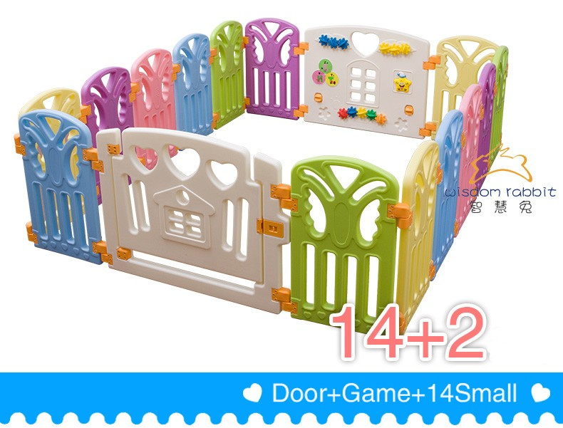 Colorful Safety Plastic Baby Playpen Baby Fence