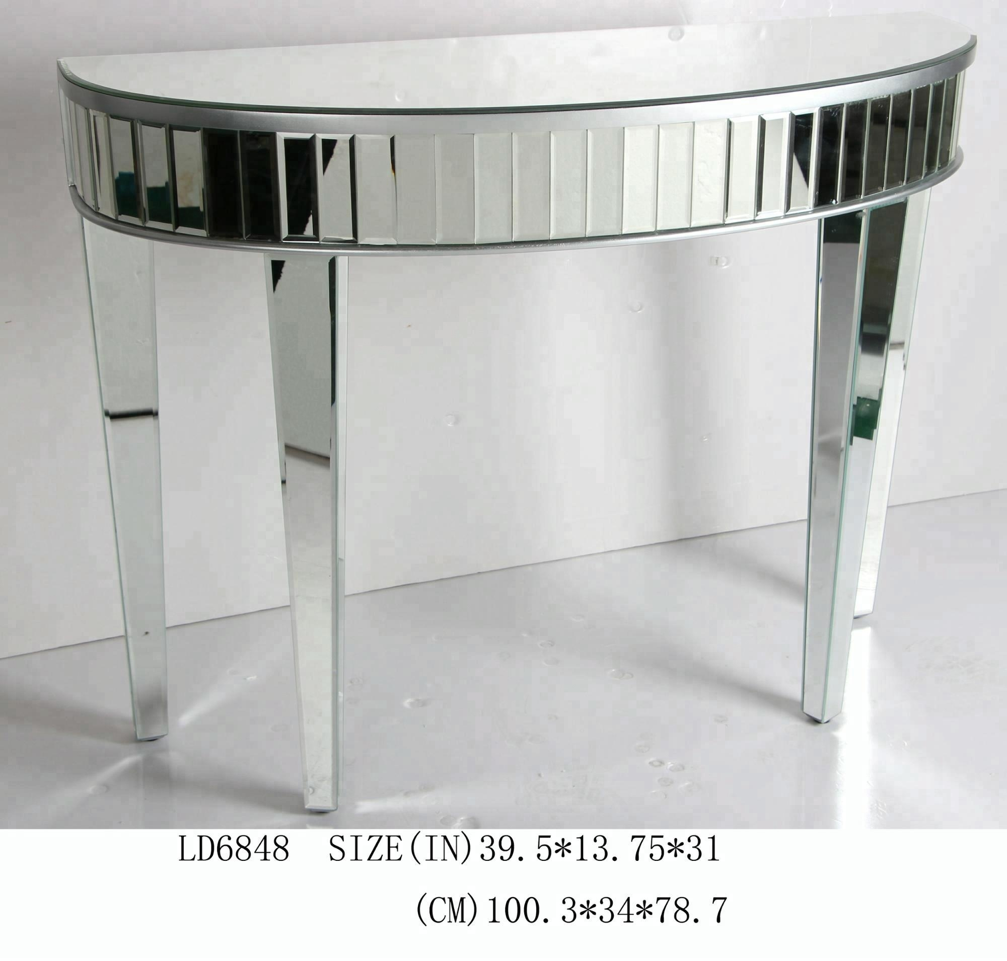 Silver Console Table With Mirror, Silver Console Table With Mirror