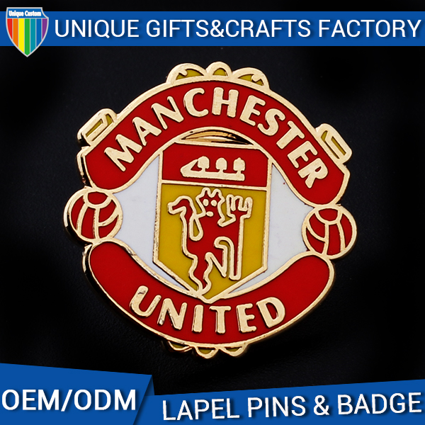 Fashion style 2D 3D design personalized soccer team badge
