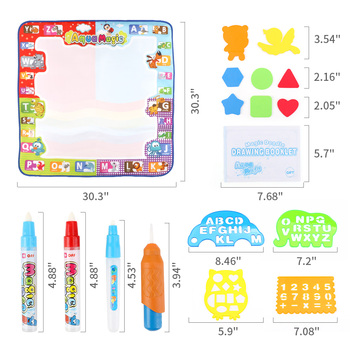 2019 Aqua Doodle Mat Large Water Drawing Mat 78*78cm with 3 Magic Pens