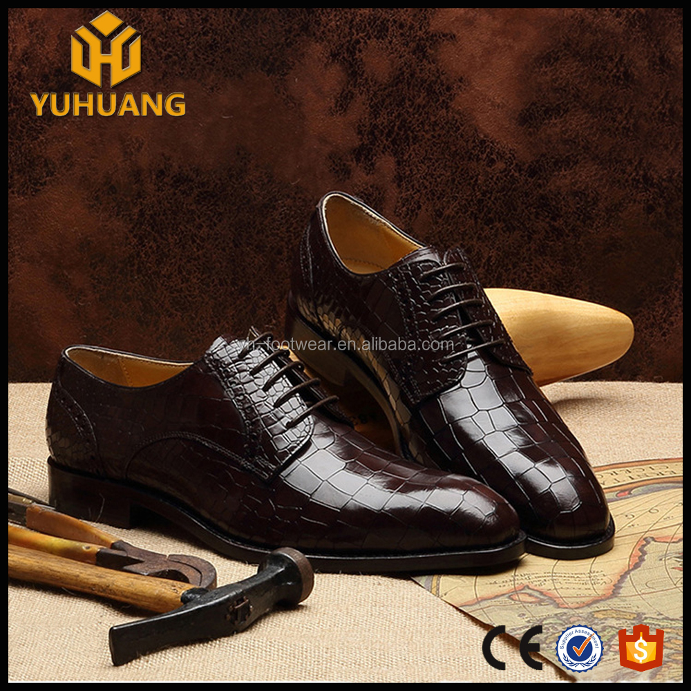 custom shoes men Luxury skin handmade goodyear crocodile shoes qxtz8Fw