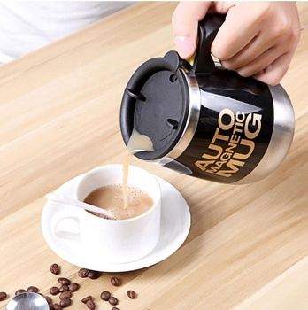 Magnetic electric coffee mug Stainless Steel Auto Protein Mixer shaker Mug 400ml