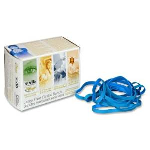 Alliance Products - Alliance - Antimicrobial Cyan Blue Rubber Bands, Size 64, 3-1/2 x 1/4, 1/4lb Box - Sold As 1 Box - 100% latex-free bands contain no natural rubber proteins and have the added benefit of an antimicrobial agent, which inhibits the growth