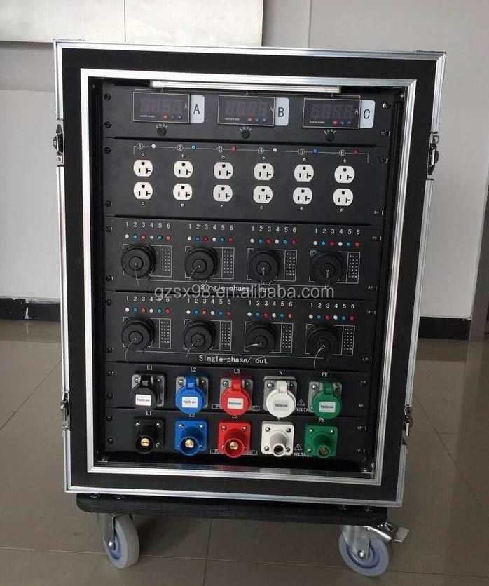 54 channels 3 phase socapex power box