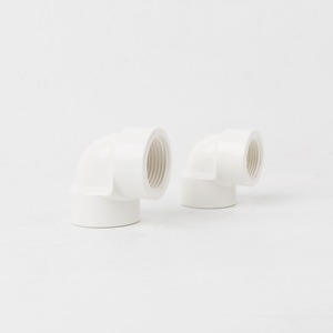 ( Elbow fitting ) size 1/2 3/4 PVC hot and cold water UPVC plastic female thread elbow PVC-U pipe elbow fitting