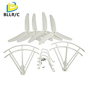 UUMART Syma X5UC X5UW RC Quadcopter Spare Parts Upgraded Three Blade Propeller+Protector+Landing Skid -White