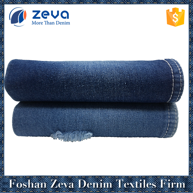 Manufacturer cotton light blue denim fabric high quality for adults jeans