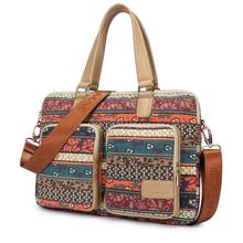 Bohemia canvas laptop bag 15.6 15 14 13.3 13 inch  Laptop computer Hand Messenger bag casual women shoulder notebook bag 066
