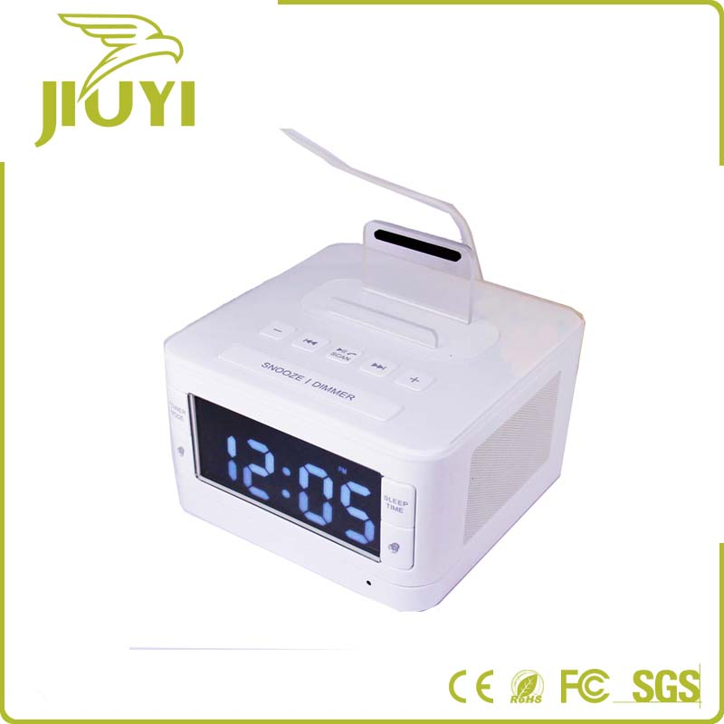Home Desktop Wireless Bluetooth Alarm Clock Speaker With FM Radio