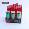 Customized square red acrylic display stand for drink