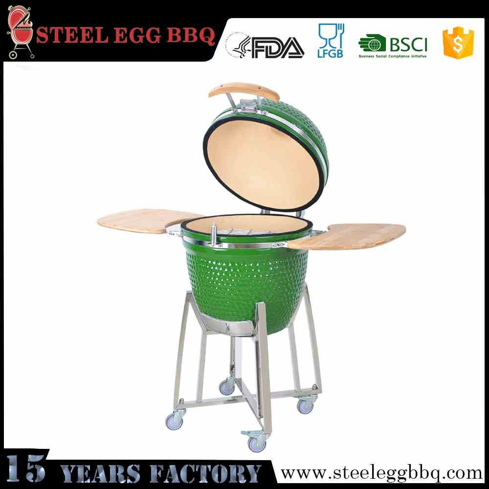 Japanese Iron Grill Big Green Kamado BBQ Egg Kamado