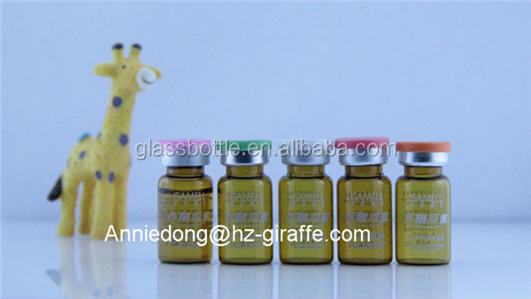 4ml amber steroids pharmaceutical glass vial with flip off cap