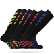 Senhao Wholesale Sports Black Soccer Socks Football Sell Well Low MOQ Cheap Soccer Compression Socks.
