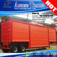 13meters 3 Axles Tarpaulins container box curtain side van semi trailer for sale
