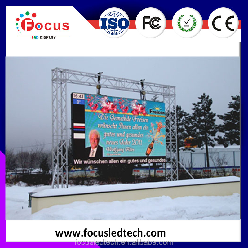 Shenzhen FOCUS LED advertising big screen outdoor tv P4.81 LED display