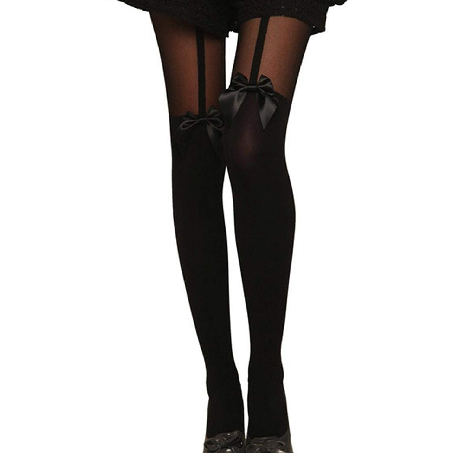 27661ab9708 Get Quotations · Susenstone®Tights Bow Pantyhose