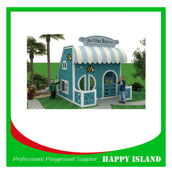 Popular Food Grade Material Kids Outdoor Playground Little Tikes Outdoor Playhouse With Slide wooden playhouse with slide