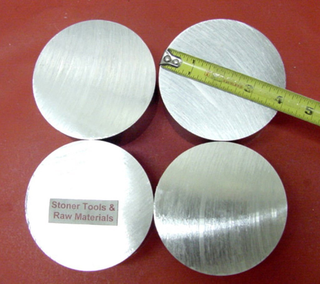 """5-1//4/"""" ALUMINUM 6061 ROUND ROD 5//8/"""" LONG T6511 Solid Extruded Lathe Bar Stock"""