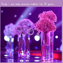 KA272 tall Acrylic clear cylindrical road lead plastic vase for wedding