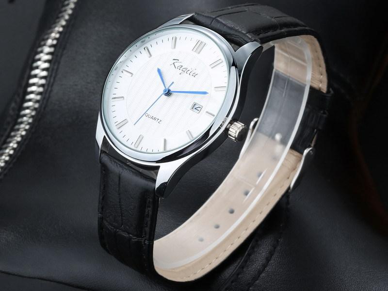 Часы мужчины люксовый бренд мода винтаж кожа кварцевые часы мужчины платье часы свободного покроя бизнес календарь наручные часы