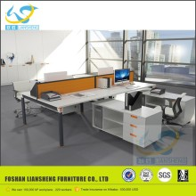 hotsale office furniture japanese iron computer desk for 4 person