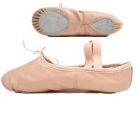 7000039 Manufacturer Wholesale Dance Shoes Leather Split Sole Ballet Shoes