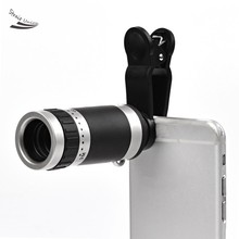 Universal 8X Optical Zoom Telescope Camera Mobile Phone Lens For Fly IQ-110 IQ-120 IQ400W IQ4409 one5 one7 glass + metal lenses