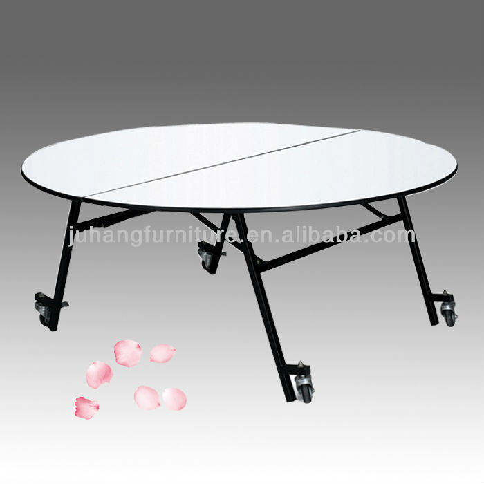 6ft Collapsible Round Table With Casters   Buy Round Table With Casters,6ft Round  Table,Collapsible Round Table Product On Alibaba.com